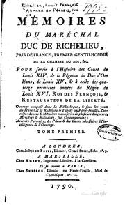 Cover of: Mémoires du maréchal duc de Richelieu, pair de France