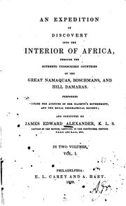 Cover of: An  expedition of discovery into the interior of Africa