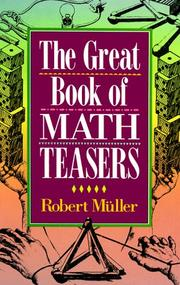 Cover of: The great book of math teasers