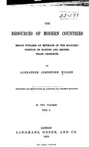 Cover of: The resources of modern countries