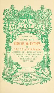 Cover of: From the book of valentines | Bliss Carman