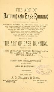Cover of: art of batting and base running. | Chadwick, Henry