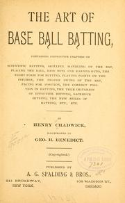 Cover of: art of base ball batting. | Chadwick, Henry