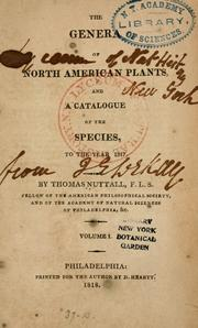 Cover of: The genera of North American plants: and a catalogue of the species, to the year 1817.