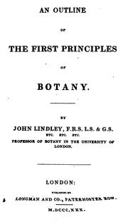 Cover of: An outline of the first principles of botany