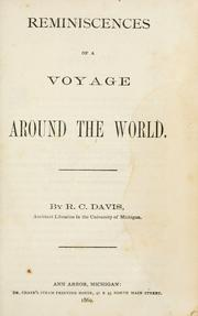 Cover of: Reminiscences of a voyage around the world. | R. C. Davis