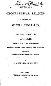 Cover of: Mitchell's geographical reader