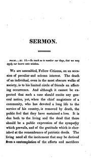 Cover of: A sermon, preached at the funeral of His Excellency William Eustis, Esq
