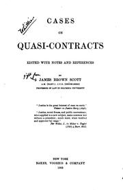 Cover of: Cases on quasi-contracts