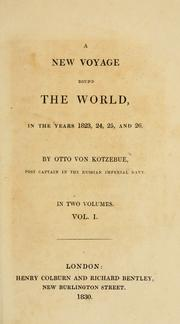 Cover of: A new voyage round the world, in the years 1823, 24, 25 and 26