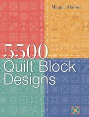 Cover of: 5,500 quilt block designs by Maggie Malone