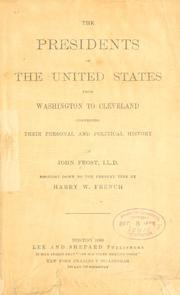 presidents of the United States from Washington to Cleveland