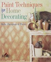 Cover of: Paint Techniques For Home Decorating