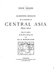 Cover of: Scientific results of a journey in Central Asia 1899-1902
