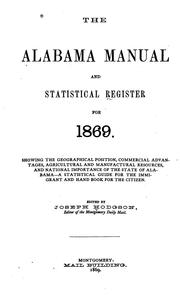 Cover of: The Alabama manual and statistical register for 1869. |