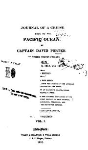 Cover of: Journal of a cruise made to the Pacific Ocean | Porter, David
