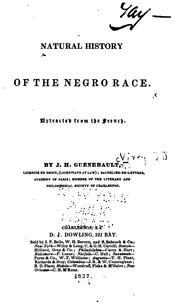 Cover of: Natural history of the negro race | J.-J Virey