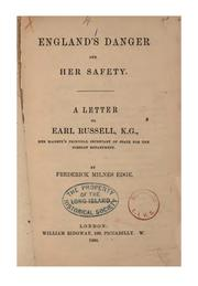 Cover of: England's danger and her safety