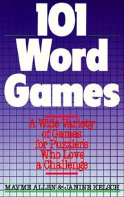 Cover of: 101 word games