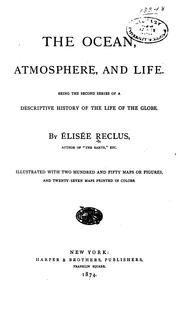 Cover of: The ocean, atmosphere, and life