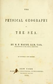 Cover of: The physical geography of the sea