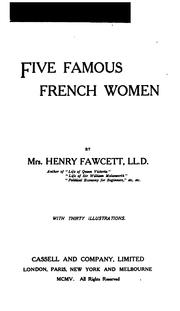 Cover of: Five famous French women