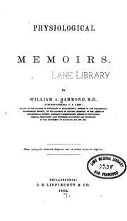 Cover of: Physiological memoirs