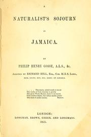 Cover of: A naturalist's sojourn in Jamaica