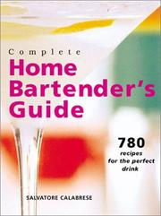 Cover of: Complete home bartender's guide