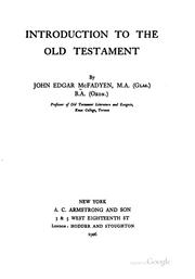 Introduction to the Old Testament by John Edgar McFadyen