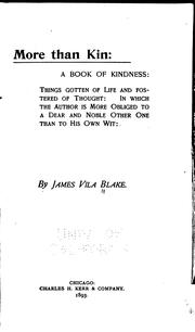 Cover of: More than kin: a book of kindness ..