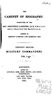 Cover of: Eminent British military commanders ..
