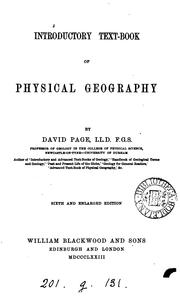 Cover of: Introductory text-book of physical geography