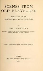 Cover of: Scenes from old playbooks