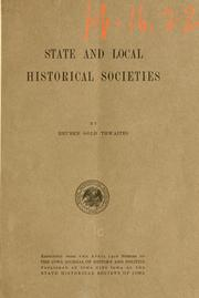 Cover of: State and local historical societies