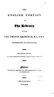 Cover of: The English portion of the library of the Ven. Francis Wrangham | Francis Wrangham