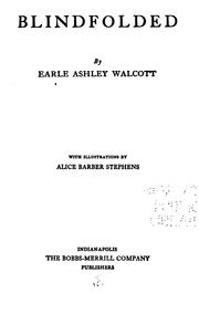 Cover of: Blindfolded | Walcott, Earle Ashley