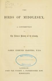 Cover of: birds of Middlesex. | James Edmund Harting