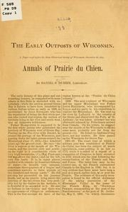 Cover of: The early outposts of Wisconsin