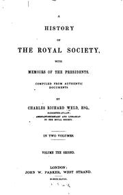 Cover of: A history of the Royal society, with memoris of the presidents