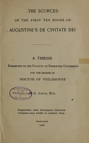 Cover of: The sources of the first ten books of Augustine's De civitate dei
