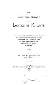 Cover of: The economic theory of the location of railways