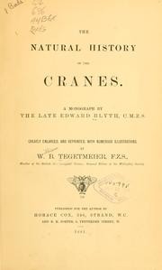 Cover of: The natural history of the cranes