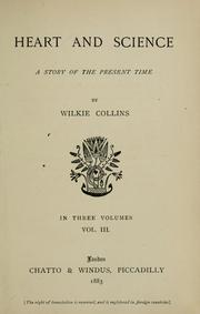 Cover of: Heart and science | Wilkie Collins