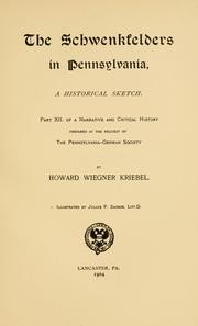 Cover of: The Schwenkfelders in Pennsylvania