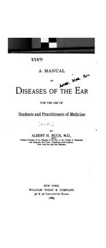 Cover of: A manual of diseases of the ear ..