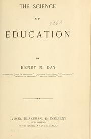 Cover of: The science of education