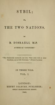 Cover of: Sybil: or, the two nations, volume 1