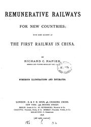 Remunerative railways for new countries by