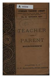 Cover of: The teacher and the parent